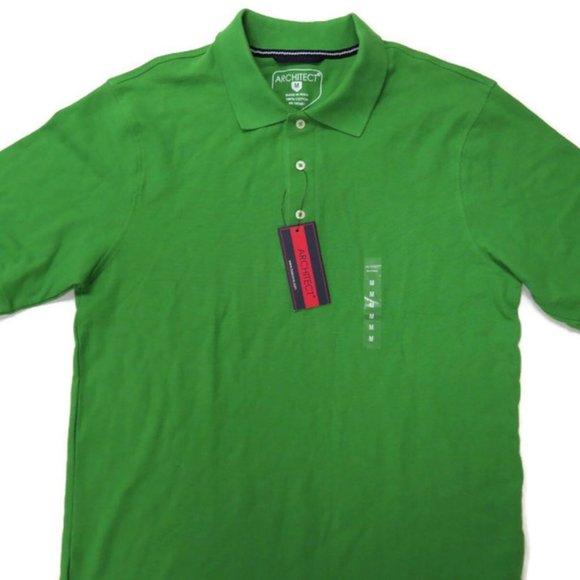 Architect Mens Golf / Polo Shirt Medium Green